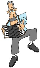 Male accordion player