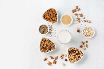 Vegan nut milk and ingredients