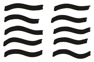 Tagging Marker Medium Wavy Lines High Detail Abstract Vector Background Set 36