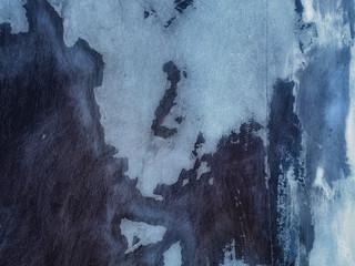 Blue Plaster Texture, Original Wall Texture Overpaint