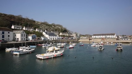 Fototapete - Porthleven Cornwall beautiful harbour in south of the county near Helston