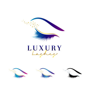 Luxury Eye Lashes Logo Set