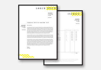 Brand Collateral Set with Yellow Accents
