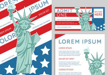 USA-themed Event Promotion Set