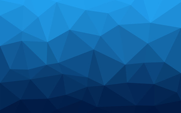 Blue triangles background. Abstract polygonal illustration. Vector geometric image.