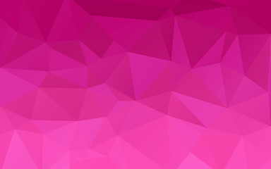 Pink triangles background. Abstract polygonal illustration. Vector geometric image. Wall mural