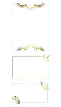 gold invitation card borders