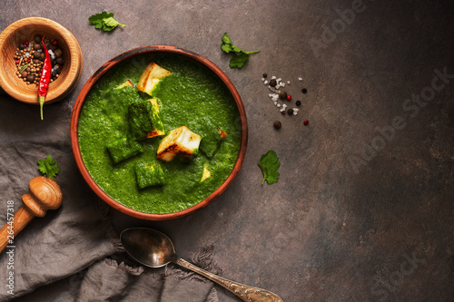 Marvelous Palak Paneer Or Spinach And Cottage Cheese Curry Mortar With Home Interior And Landscaping Analalmasignezvosmurscom