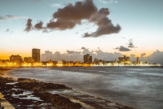 lightning city near shore