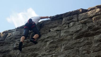 Kletterer, Free-Climbing, Mauerspecht