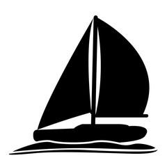 Isolated sailboat icon image. Vector illustration design