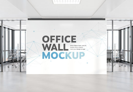 Wall in Modern Office Mockup