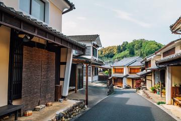 Japanese old traditional village Uchiko town in Ehime, Shikoku, Japan