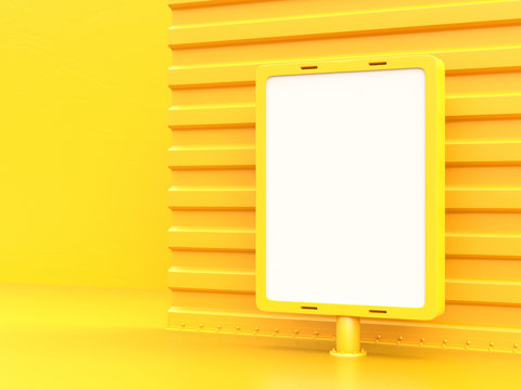 Billboard mockup for advertising yellow