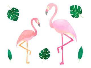 Canvas Prints watercolor flamingo