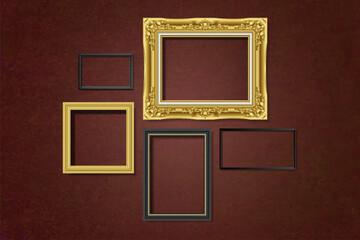 Wall Mural - Set of gallery frames
