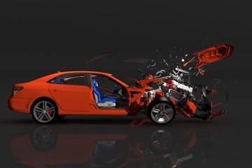 Accident car.