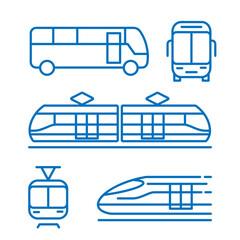 Obraz Pojazdy transportowe. Zestaw ikon wektor - fototapety do salonu