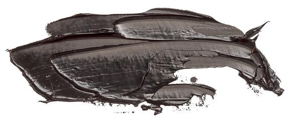 Black oil texture paint stain brush stroke