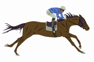 illustration of horse derby, vector drawing
