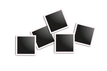 Set of realistic square frames, Vector Photo frame mockup design. Vector frames photo collage on white background. Vector illustration