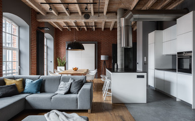 Amazing apartment in industrial style