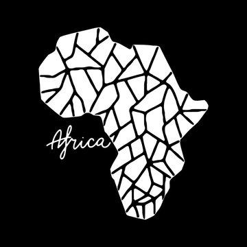 Afica Map vector illustration