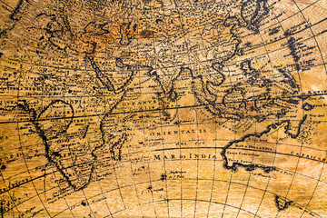 Old Geographic Map of the World