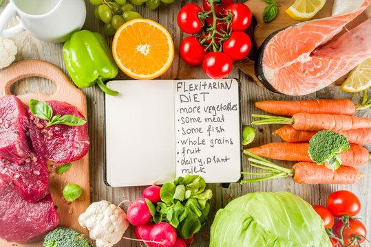 Flexitarian diet background