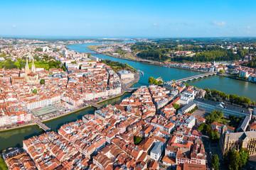 Bayonne aerial panoramic view, France Wall mural