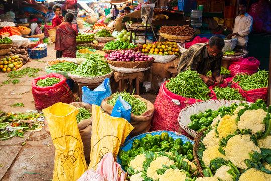 Fruts and vegetables at market