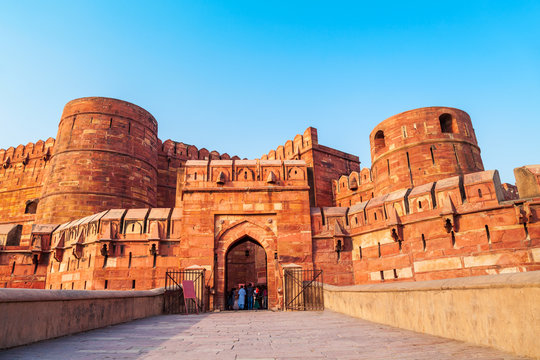 Historical Fort in Agra, India