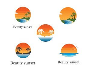 beach vector illustration icon of travel and holiday