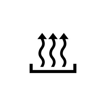 Heat icon three arrow up concept. Vector