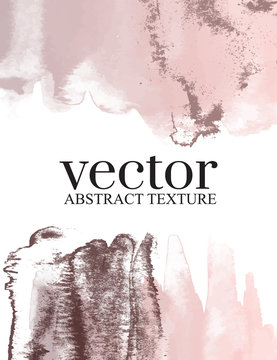 Vector smudge brush stroke abstract pink grey background. Good for presentation, wallpaper, canvas, advertising, business cards