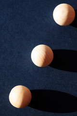 Wooden Balls With Shadow