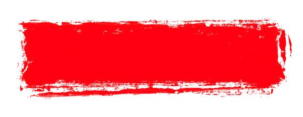 Breiter roter Farbabdruck als Banner Fototapete