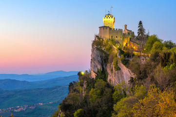 Cesta, the Second Tower of San Marino Wall mural