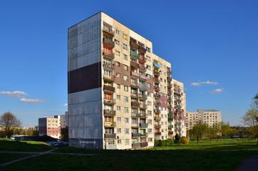 Obraz Blokowisko z wielkiej płyty - fototapety do salonu