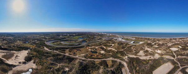 Panoramic aerial image of Zandvoort racetrack circuit