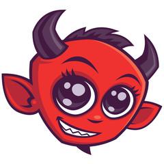 Cute Cartoon Devil