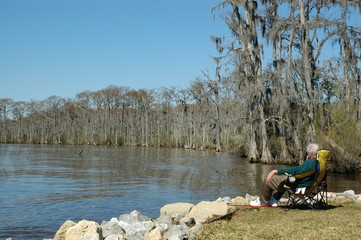 The view at Fairview-Riverside State Park, in Madisonville, Louisiana, USA