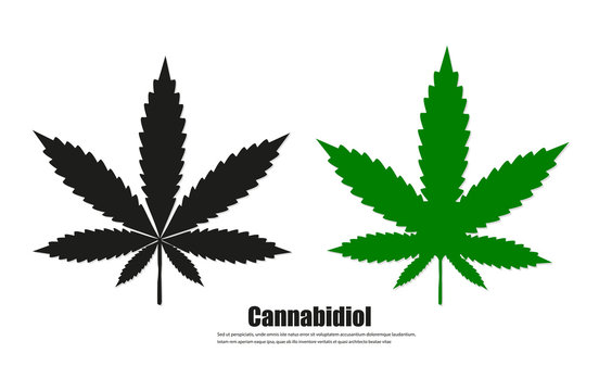 Cannabis sign icon. vector illustration concept image icon