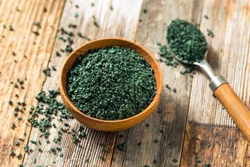 Raw Green Organic Algea Spirulina