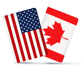 91da73ddc16 USA and Canada Flags Together