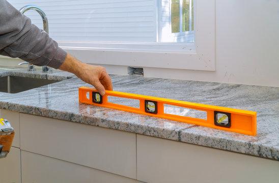 Installing with granite countertops renovation and granite kitchen interior cabinet