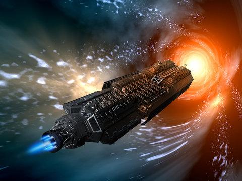 3D REndered Fantasy Alien Space Scene - 3D Illustration