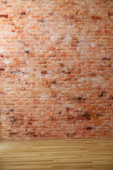Red old brick wall
