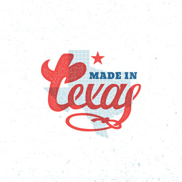 Texas lettering