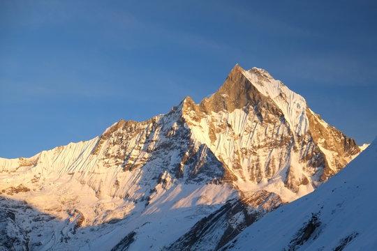 アンナプルナ内院ハイキングの雪山